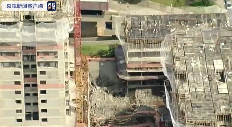 巴西圣保罗一在建大楼发生坍塌事故 1人受伤