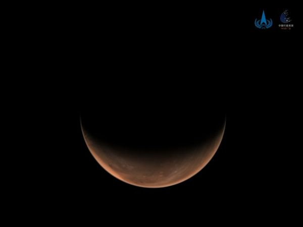 """酷!""""天问一号""""拍了两张火星侧面美照图片"""