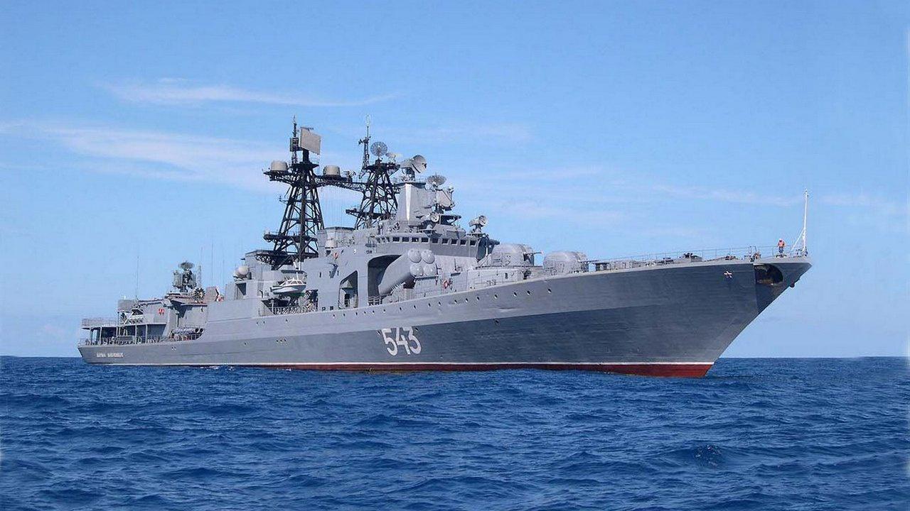 """俄太平洋舰队在日本海首次试射""""口径""""巡航导弹"""