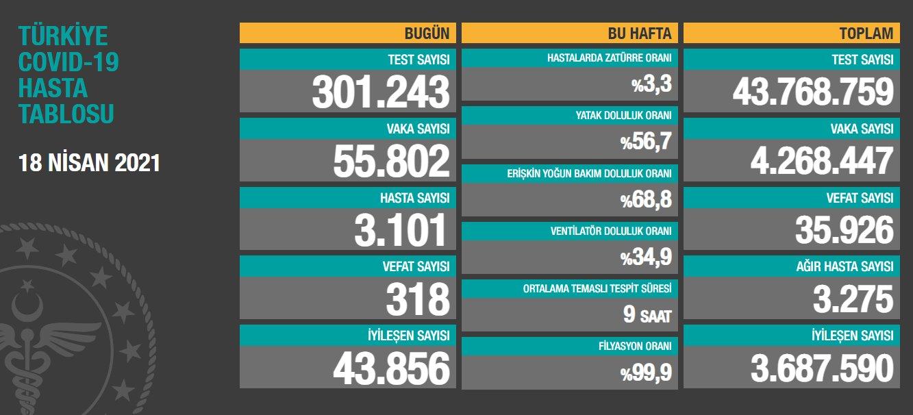 土耳其新增新冠肺炎确诊病例55802例