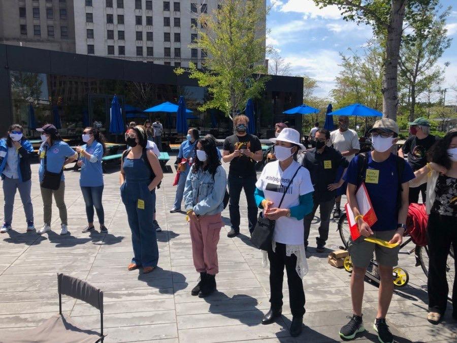 美国多个城市举行反仇视亚裔抗议集会 呼吁族裔平等