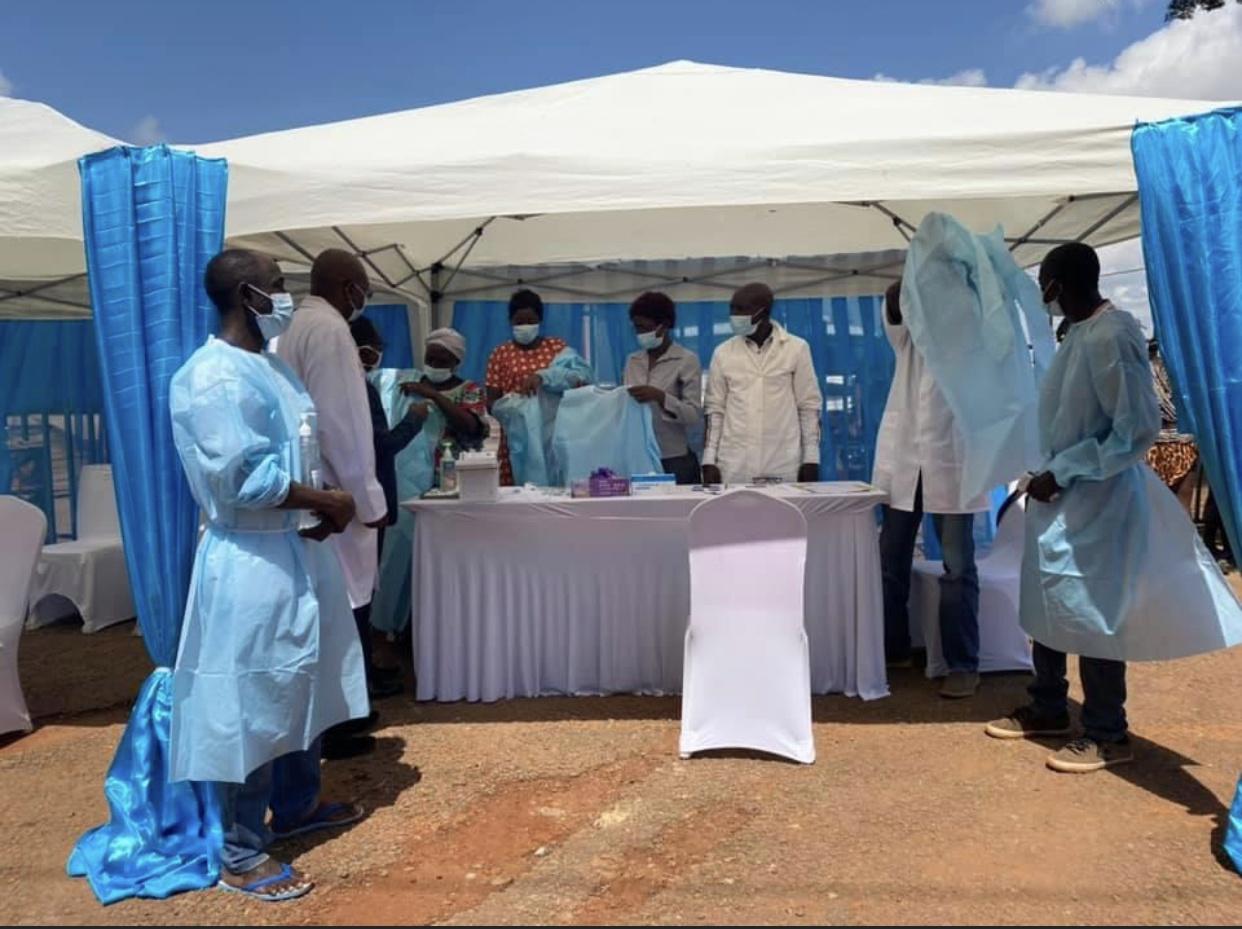 中非共和国启动新冠疫苗接种工作