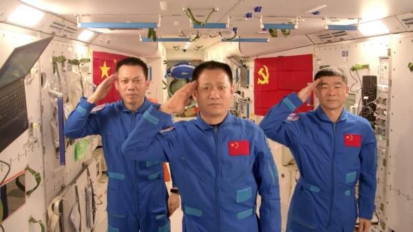 来自中国空间站的生日祝福