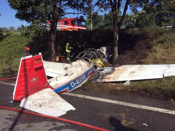 意大利南部发生超轻型飞机坠毁事故 造成2人死亡
