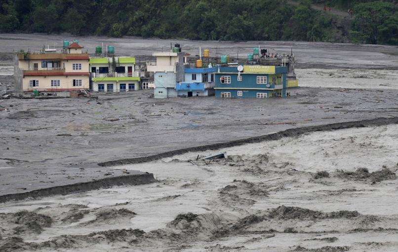 尼泊尔季风雨季自然灾害频发 已致61人死亡