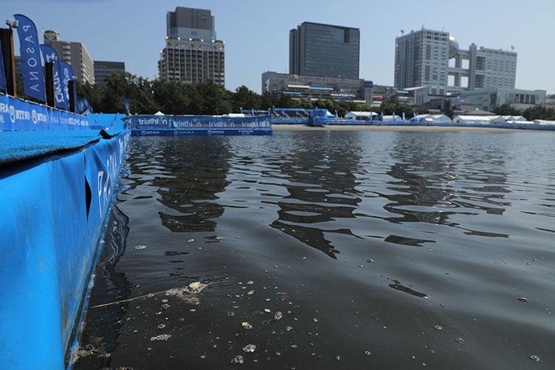 △2019年8月,东京奥运会铁人三项测试赛,因水质不达标取消游泳赛程。
