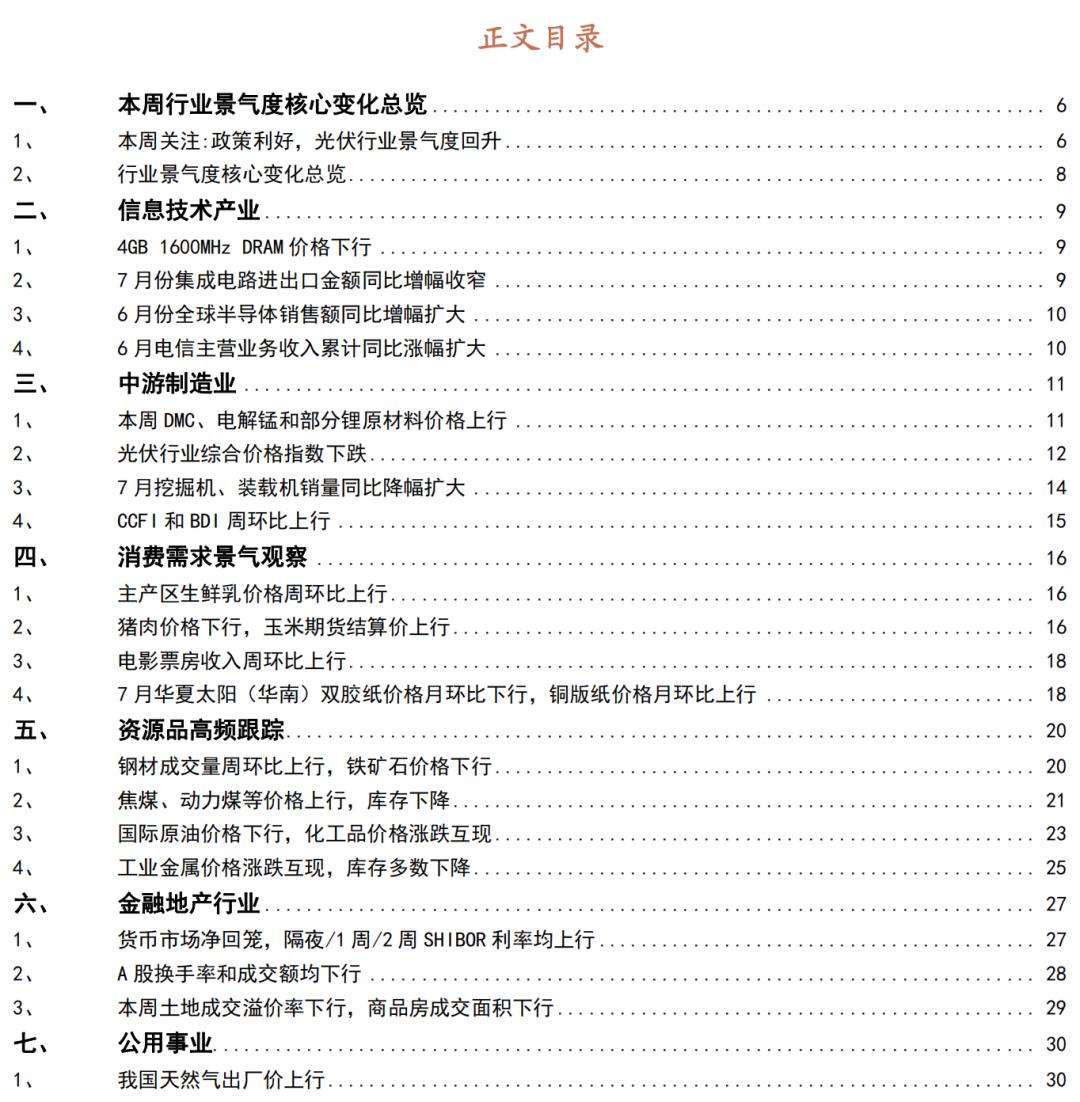 【招商策略】行业景气观察0811——6月全球半导体