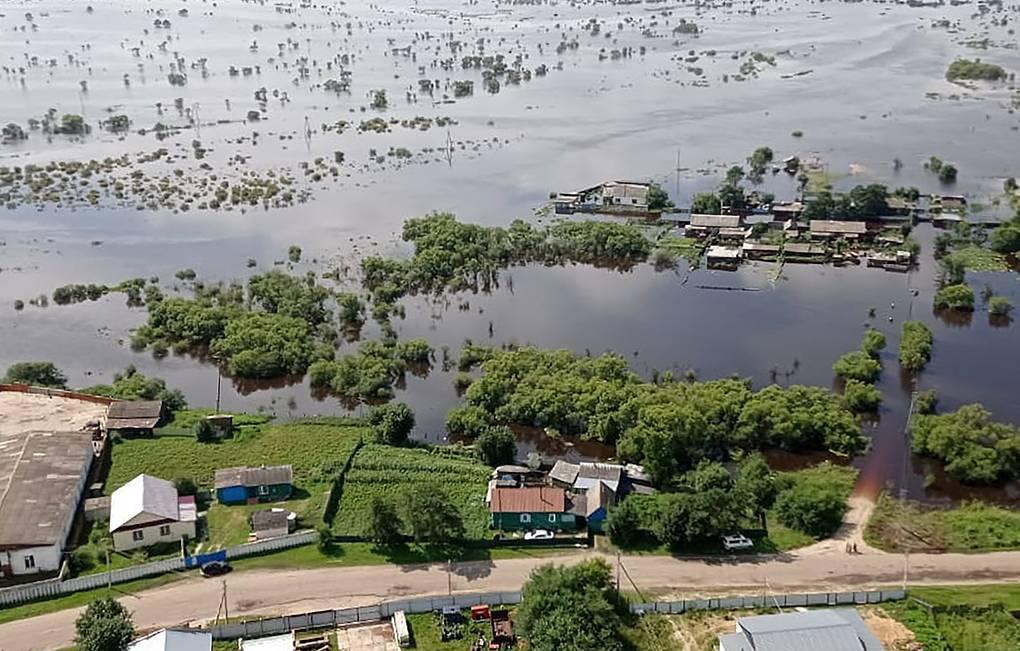 俄罗斯远东多个地区遭洪水侵袭 超24000人受灾