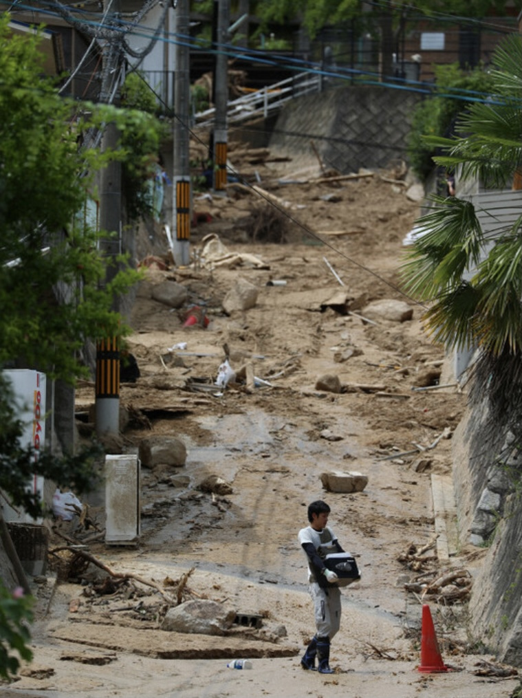 日本4县遭遇暴雨天气 至少1人死亡 3人失踪