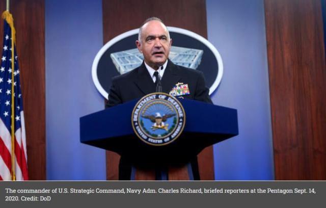 美军战略司令部司令查尔斯·理查德 图源:美国防部