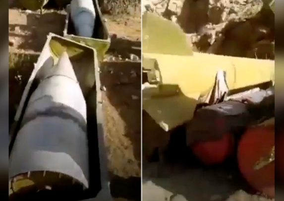 塔利班在反抗力量据点发现数十枚苏制导弹 弹体完整