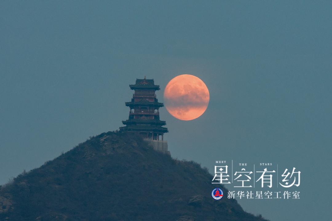 北京市天文摄影爱好者陈天宇2017年10月4日(农历八月十五)在北京拍摄的中秋月。(本人供图)