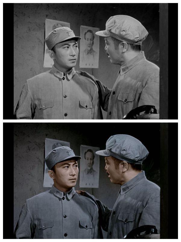 《永不消逝的电波》黑白原版与彩色修复版剧照对比。 片方供图。
