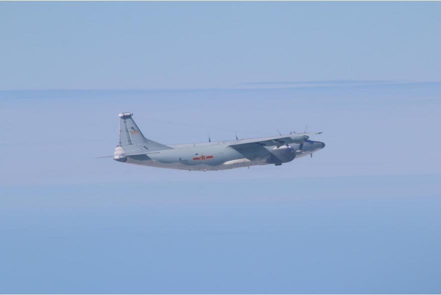 台军:5架次大陆军机今天入台湾西南空域 本月已27天
