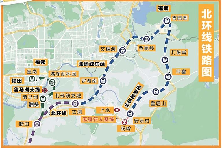 北环线铁路图。