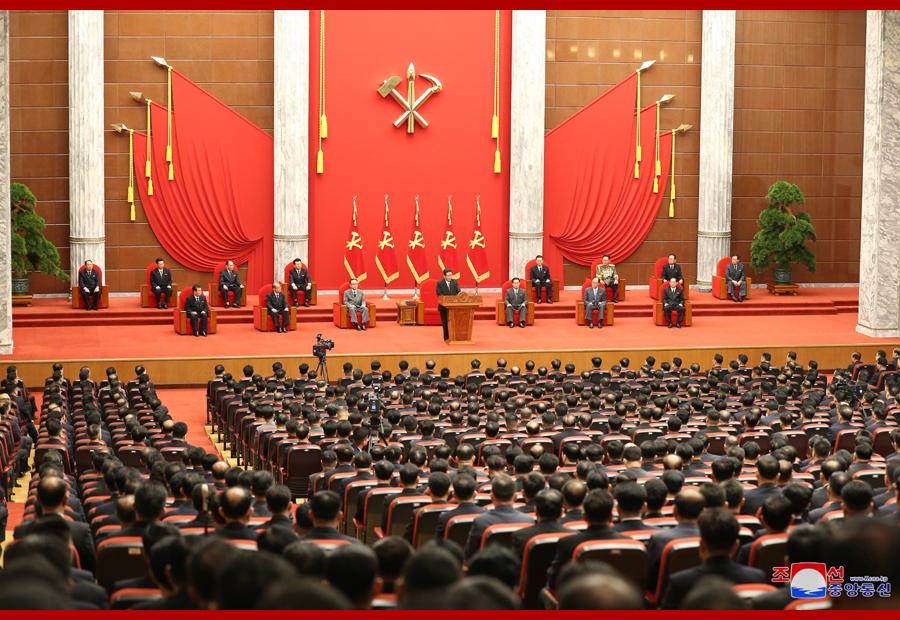 朝鲜劳动党举行成立76周年纪念报告会