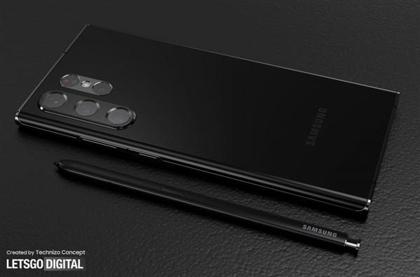 首批搭载骁龙898 三星Galaxy S22 Ultra渲染图曝光:双排摄像头吸睛
