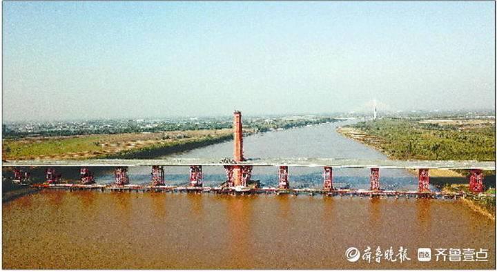 凤凰大桥将于2021年通车,济南东部新添跨黄通道。