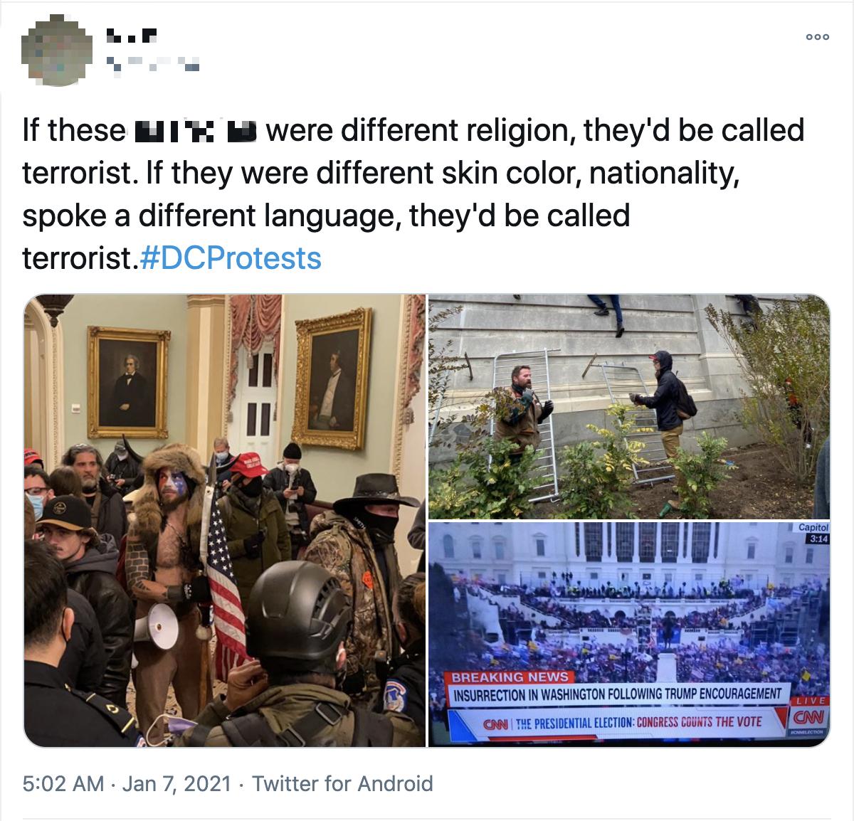 美国会大厦遭暴力冲击事件没完 非洲裔民众对警察执法双标绝望