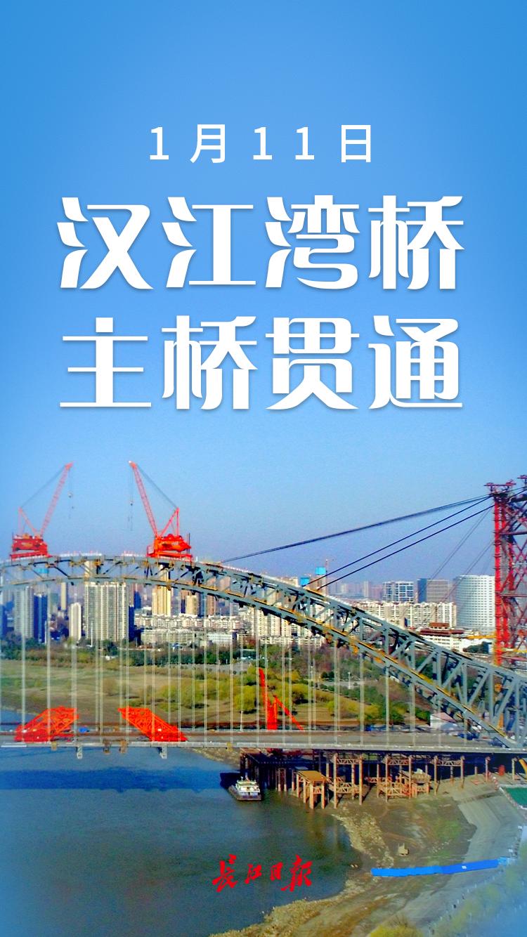 汉江湾桥主桥贯通丨海报