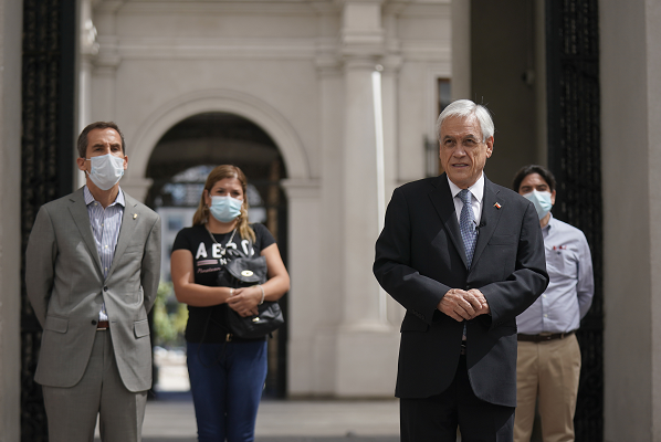 智利总统因密切接触新冠感染者而接受预防性隔离