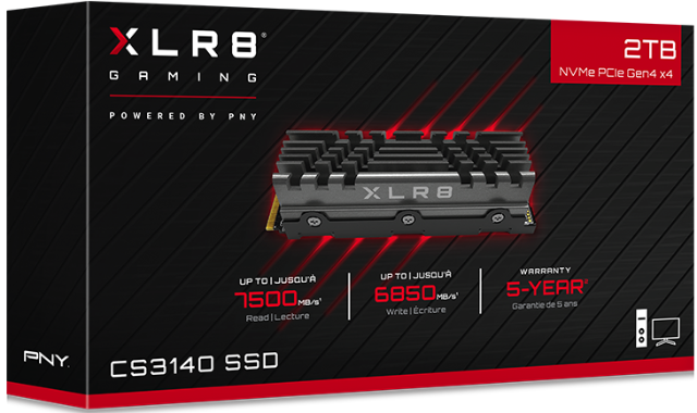 PNY发布XLR8 CS3140 M.2 NVMe固态硬盘:采用PCIe 4.0 x4接口