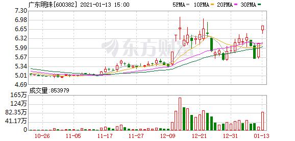 广东明珠:股东兴宁金顺安质押2500万股