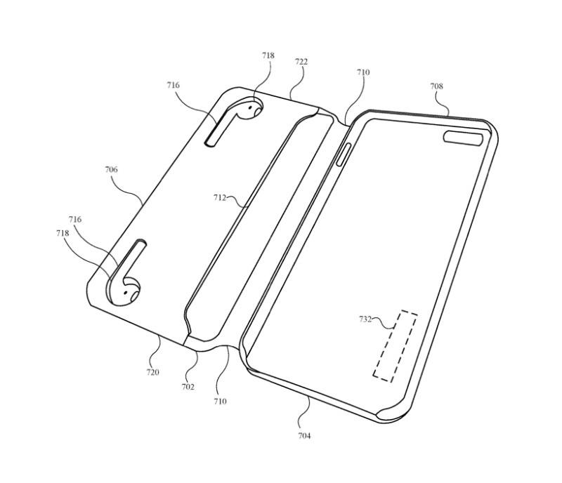专利曝光:苹果研究可给AirPods等配件充电的iPhone手机壳