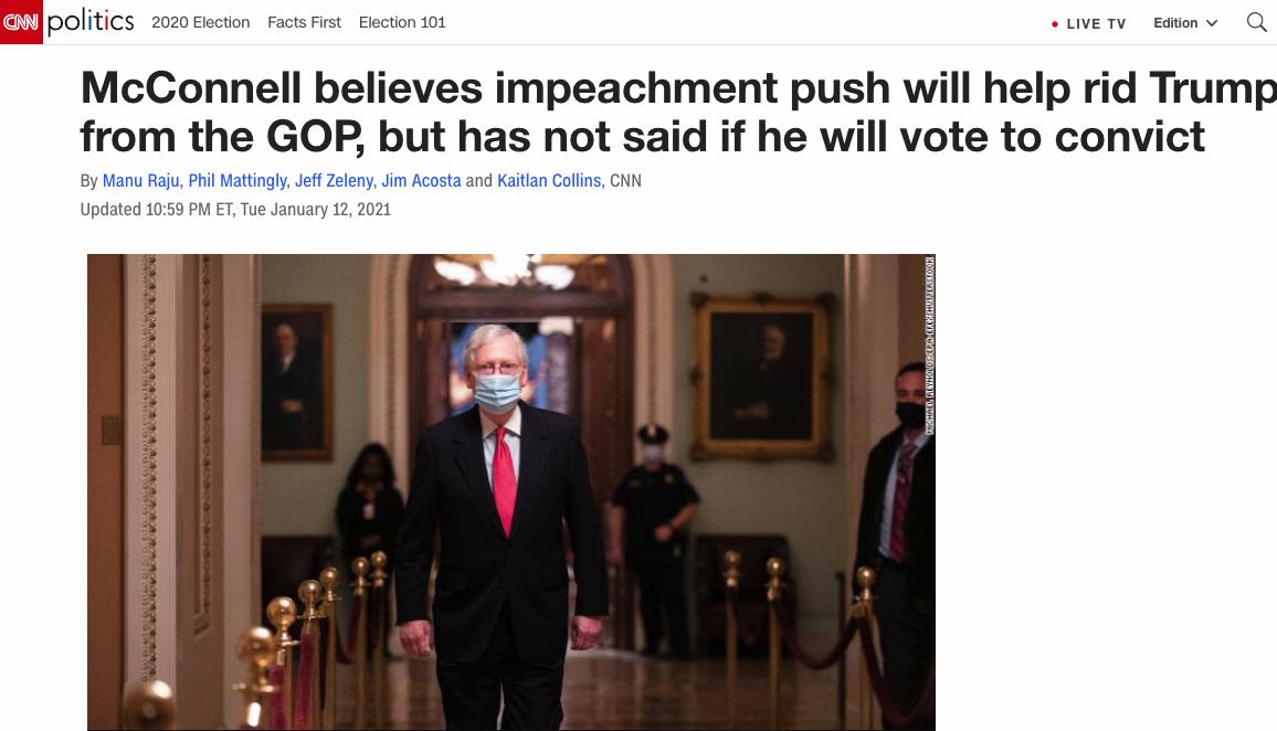 特朗普再次遭到弹劾 美国或在一周内产生两任总统