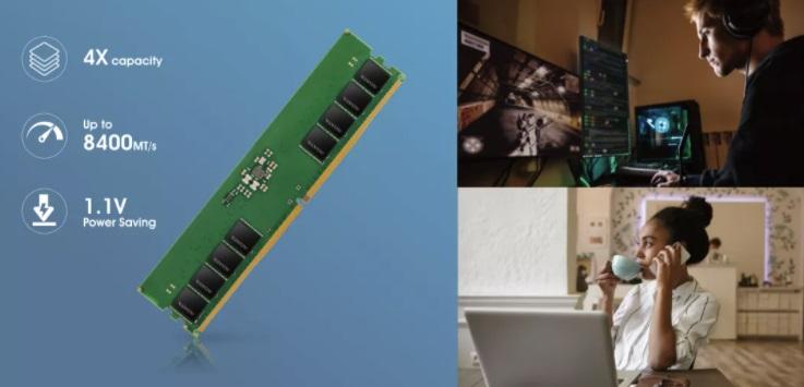 威刚CES展示新世代DDR5内存:8400MT/s,内置ECC功能