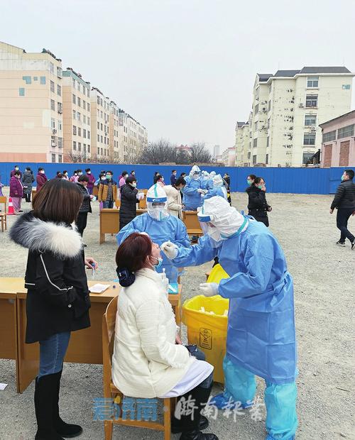济南市人民医院进行核酸采样实战训练。