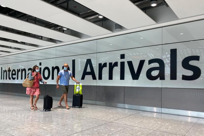 入境英格兰需持新冠检测阴性证明 18日起实行