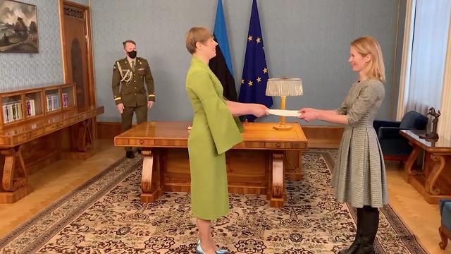 爱沙尼亚总统正式任命卡拉斯为总理