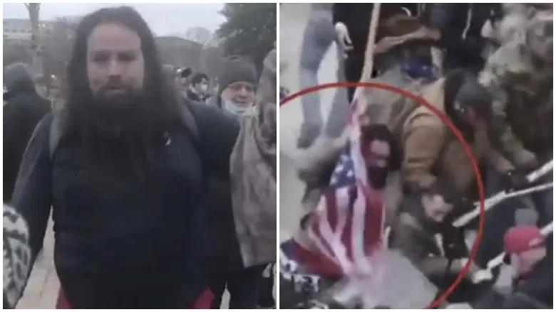 美国国会冲突中用国旗殴打警方的男子被捕