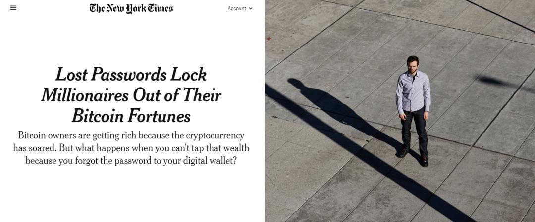 """价值2亿美元的""""财富密码"""",他想不起来了!"""