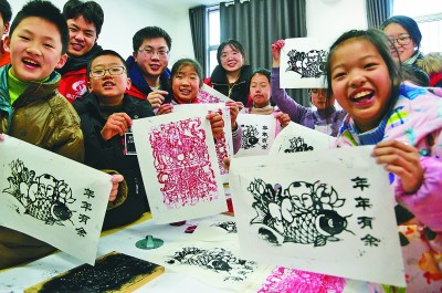 拓印木版年画 感受传统文化