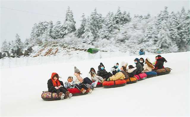 仙女山迎来今年以来最强降雪