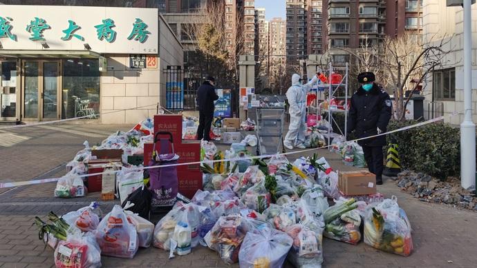 """北京大兴2例确诊所在社区进行环境消杀,周边社区""""只进不出""""图片"""