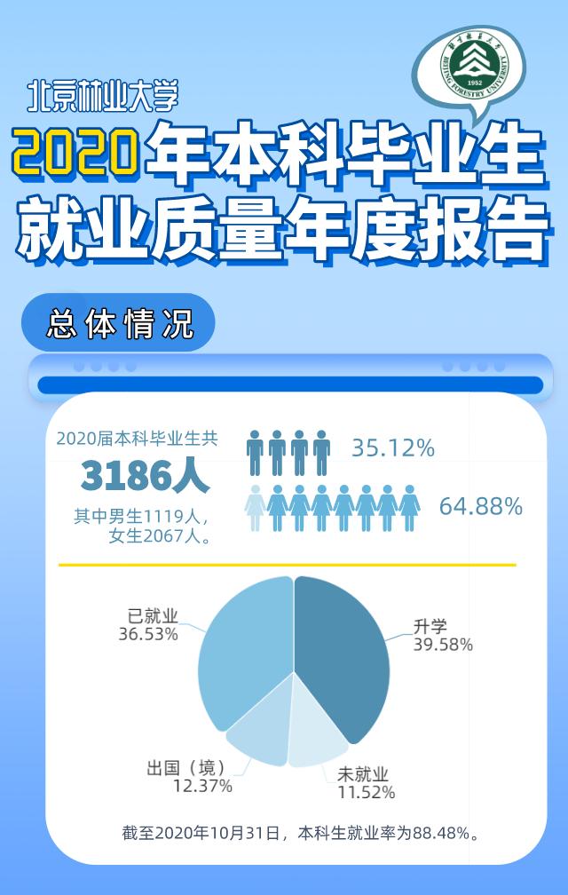 北京林业大学2020年毕业生都去哪了?长图看懂!图片