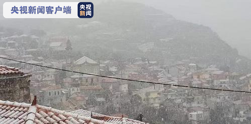 希腊莱斯沃斯岛大雪致部分小学和幼儿园关闭