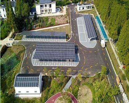 """""""光伏+""""示范应用标杆 晶科能源中国首个BIPV光伏车棚项目实现运行"""
