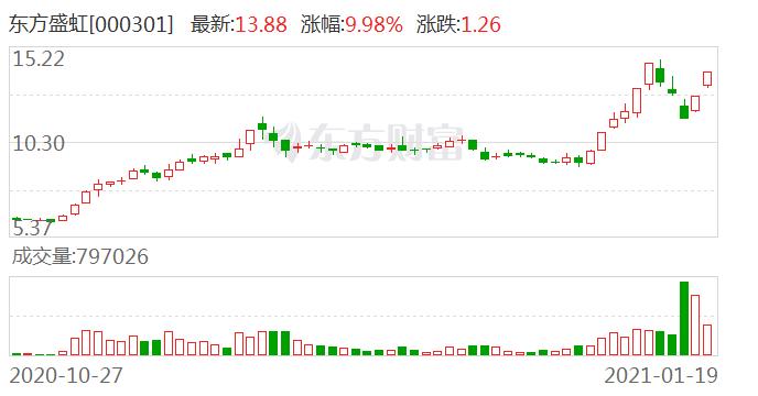 大宗交易:机构账户卖出东方盛虹6795万元(01-19)