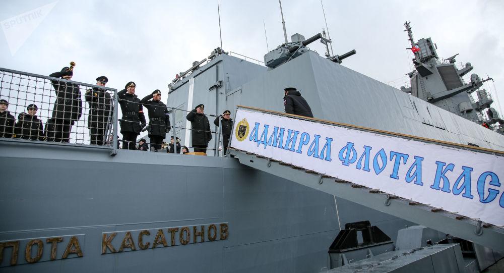 俄罗斯海军新锐神盾舰现身非洲 首次停靠阿尔及利亚