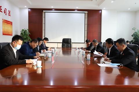 蒋亚辉与部分驻东丽区市人大代表座谈