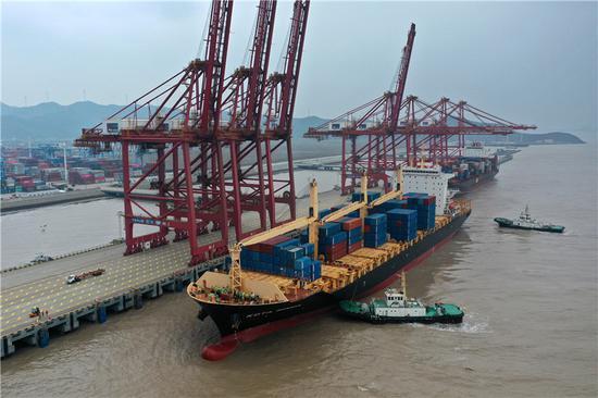 浙江舟山完成港口货物吞吐量5.71亿吨 同比增长6.62%