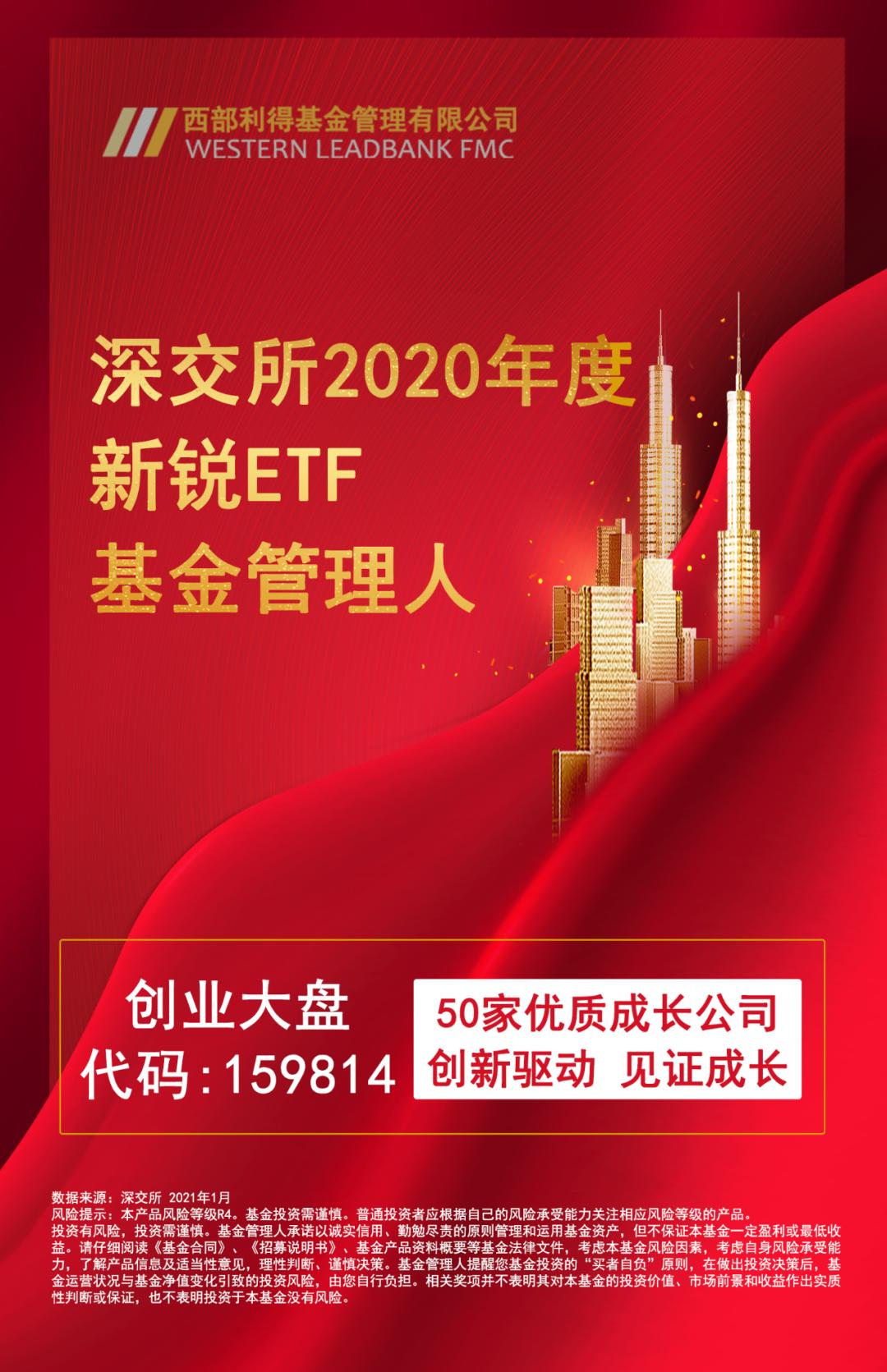 西部利得基金荣获深交所2020年度新锐ETF基金管理人