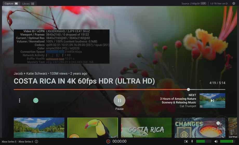 YouTube在Xbox游戏机上实现了对HDR的支持