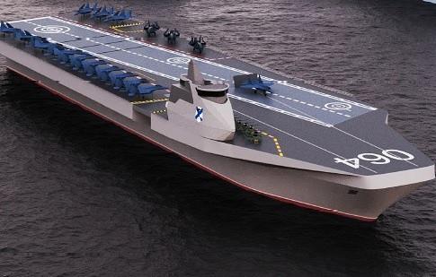 美媒嘲讽俄新航母设计图:一看就没认真,俄工业界没能力造出来