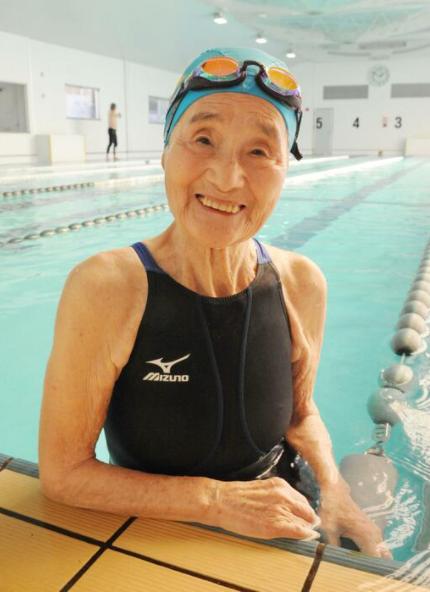 日本106岁游泳运动员去世:百岁后破18项世界纪录