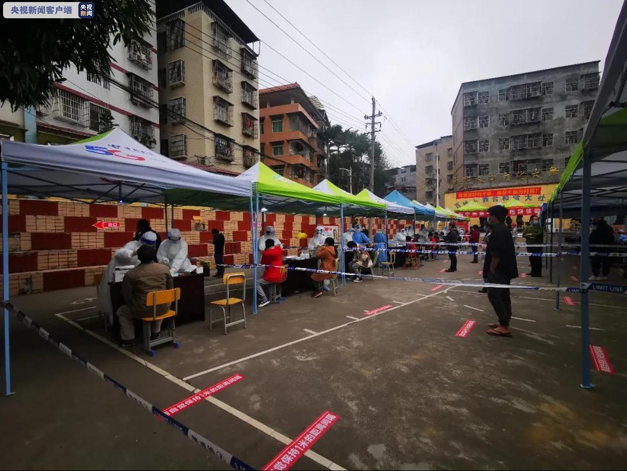 广西南宁虎邱村今日迎来第三次全体核酸采样工作图片